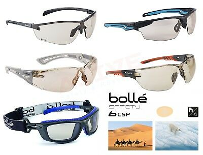 Bolle Safety Glasses Driving Cycling Spectacles - CSP Anti Scratch Anti Fog Lens