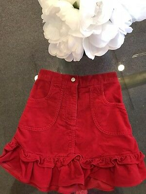 Hanna Andersson Girls Tiered Ruffle Velvet Red Skirt Size 5 5T Orig.$59