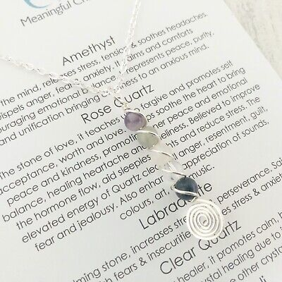 Anxiety Stress Necklace Gemstone Depression Stress Relief Crystal Healing