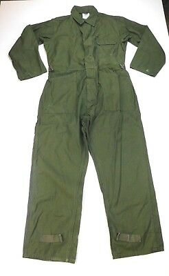 USN US Navy Army Military Men's Cotton Green Sateen Type 1 Coveralls L Large