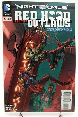 Red Hood & the Outlaws #9 New 52 Vol 1 July 2012 Signed by Lobdell DC Comics