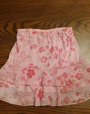 Girls Size 6 Joey B Floral Print Lined Layered Skirt