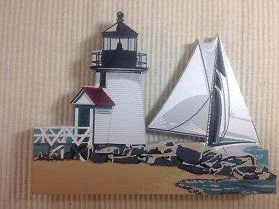 Shelia's Collectibles House-BRANDT POINT LIGHTHOUSE, Nantucket, Mass. Signed A/P