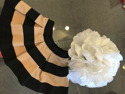 Janie and Jack Girls Black and Butterscotch Stripe Skirt Size 5 5T Orig.$42