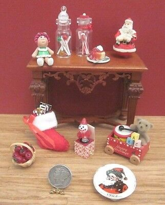 Dollhouse Miniatures Lot-1:12 Scale-Christmas Items-Stocking-Candy Jars-Misc