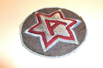 Bullion Sixth Army German Theater Made Hand Embroidered Patch