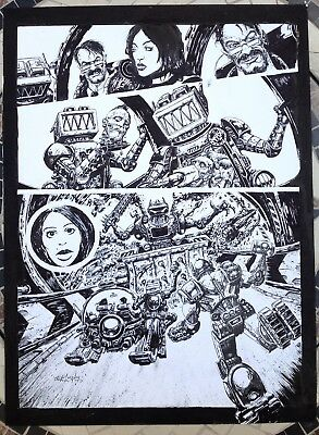 Abc Warriors Return To Ro-Busters 2000Ad Large Original Comic Art Clint Langley