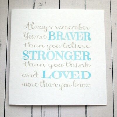 inspirational message card cancer illness support love care help