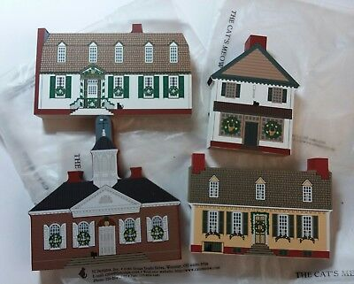 The Cat's Meow ~ Traditional Williamsburg Christmas ~ Set of 4 ~ New in bags
