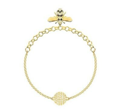 Swarovski Crystal Remix Collection Bee Bracelet, Gold Plating 5380077 (Size M)