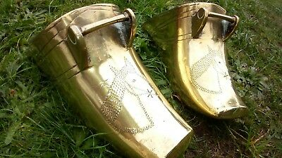 A Rare Pair Of Early 18Th Century Brass Stirrups