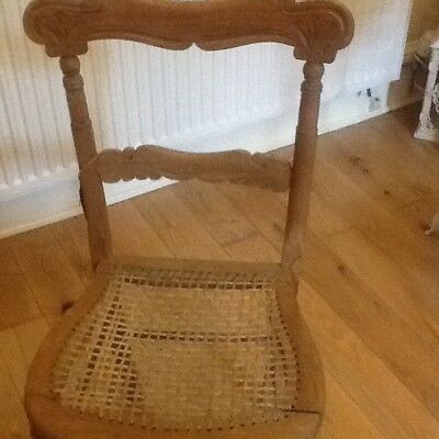 Old pine carved chair