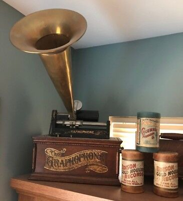 19th C Antique Columbia Cylinder Graphophone Type AT. NEW LOW PRICE!!