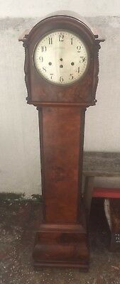 GRANT & SON SOUTH SHIELDS - Brown Grandfather Empty Clock Case