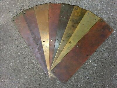 "Beautiful vintage brass push plate for door  3 1/2"" x 14"" with original screws!"