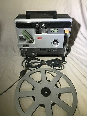 Elmo Projector Super 8 Sound ST-1200 HD M 2-Track with manual & Accessories