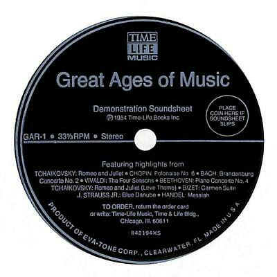 """Unknown - Great Ages Of Music - Flexi-Disc - 7"""" Record Single"""
