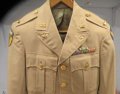 """U.s. W.w.ii Air Corps Officer's Uniform With An Older """"xv"""" 15Th Air Force Patch"""