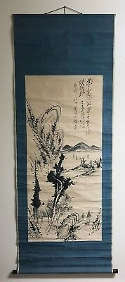 Old Chinese Watercolor Scoll Painting