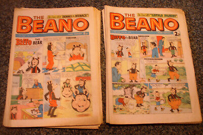 BEANO COMICS x 23 (ALL 1974) - INCLUDES WRONGLY NUMBERED ISSUE