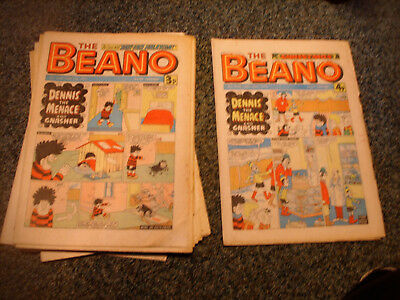 BEANO COMICS x 21 (ALL 1975) - INCLUDES CHRISTMAS ISSUE No.1744