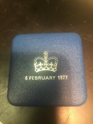 Original 1977 UK Queens Silver Jubilee Crown Proof