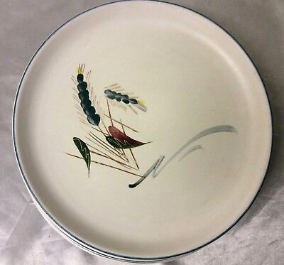"""Denby Greenwheat Large 10"""" Oven Proof Dinner Plate Signed """"A College"""" x 3"""
