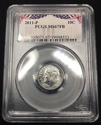 2011-P Roosevelt Dime - Pcgs Ms67Fb - Full Bands