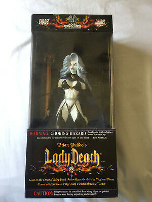 """Moore Collectibles Chaos Comics Brian Pulido's LADY DEATH 12"""" action figure MIB"""