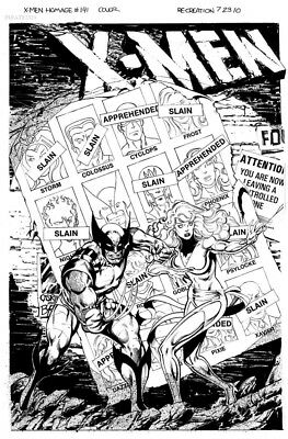 X-MEN #141 Cover Recreation by Anthony Castrillo OA Original Art Commission