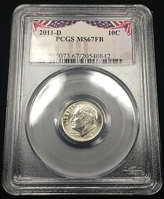2011-D Roosevelt Dime - Pcgs Ms67Fb - Full Bands