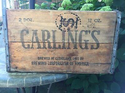 Antique/Vintage Wood Carlings Bottle Crate,  Cleveland, OH.  10-42, Never Bust