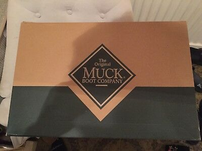 Muck Boot Company Derwent Black Wellington Boots Size 9 Boxed Brand New