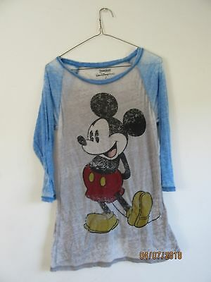 Walt Disney World Resort Mickey Mouse Shirt Womens Sheer Size S Small NWOT