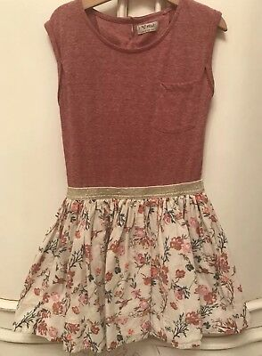Bnwot Next Girls Pink Floral Tshirt Dress Age 8