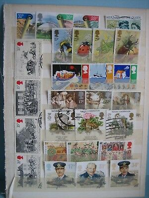 1980's GB used commemorative stamps