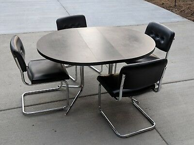 Mid Century Modern Dining Set - Table and 4 Chairs