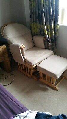 Maternity nursing glider chair purchased from Mothercare..Beige fabric