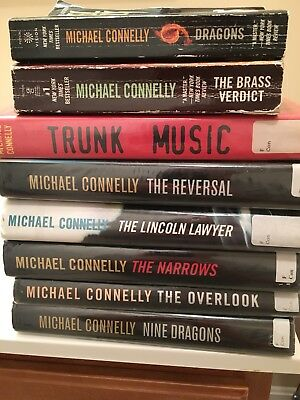 Michael Connelly lot of 8!! six Hardcover Bosch/Lincoln Lawyer & 2 paperback
