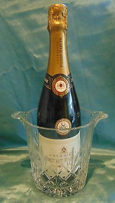 Exquisite Signed Edinburgh Cut Crystal Champagne Bucket - Perfect Beautiful