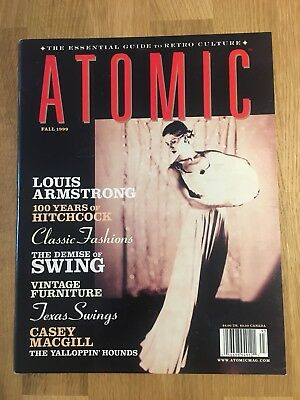 Atomic Magazine. Retro Culture. Hitchcock. Louis Armstrong. Vintage Fashion