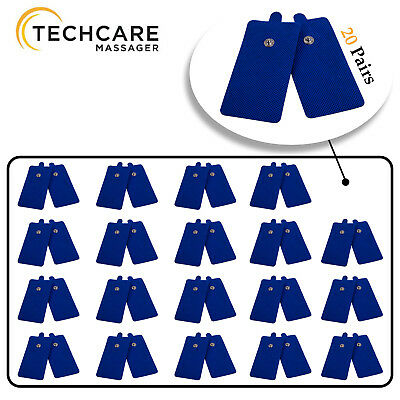 Tens Unit Pads [FDA 510(k) Cleared] 40 Pieces Medical Grade Blue Extra Large