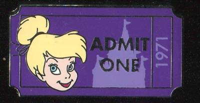 WDW Admission Ticket Admit One Tinker Bell 1971 PWP Disney Pin 92334