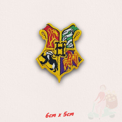 Harry Potter Hogwarts Yellow Iron Sew on Embroidered Patch applique UK Seller