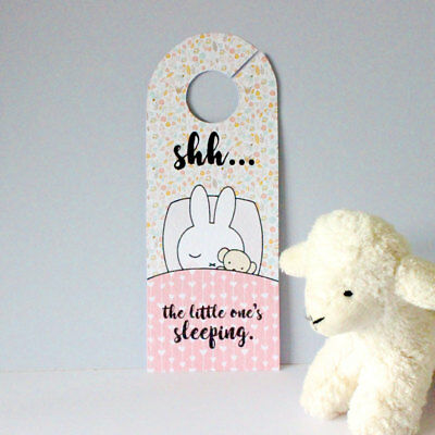 Miffy Bunny Rabbit Bedroom Nursery Door Hanger cute new baby shower girl gift