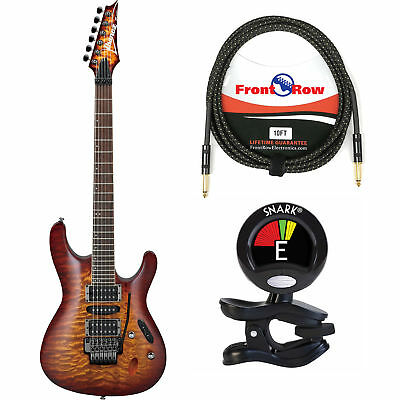 Ibanez S Series S670QM Electric Guitar Dragon Eye Burst w/Tuner & cable