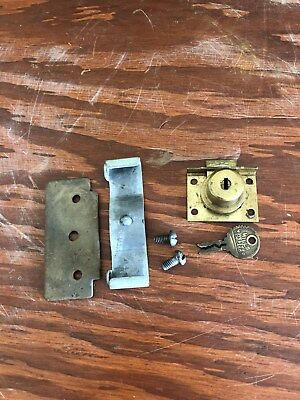 Mills slot machine lock, key, plate and security clip