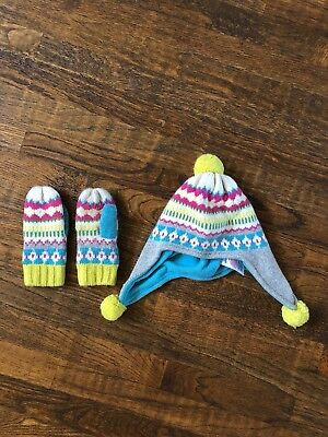 Mini Boden Hat And Mittens Girl 7-10