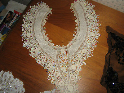Vintage LOT Lace Collars Appliques Trims Sequins embroidery GROUP #5
