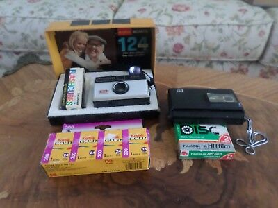 Vintage Kodax Disc 6000 & Instamatic 124-Film, Flashcubes, Discs--Untested